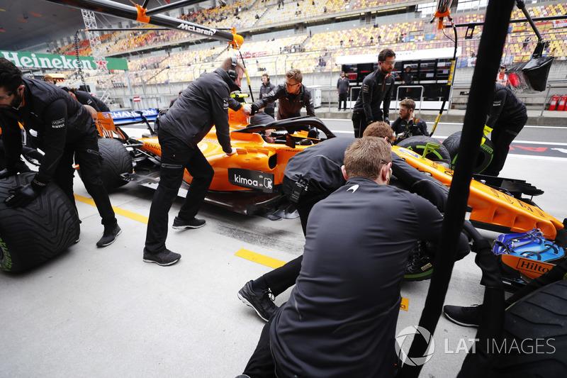 Simulation d'arrêt au stand chez McLaren