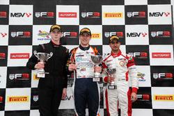Podium: 1. Nicolai Kjaergaard, Carlin; 2. Tristan Charpentier, Fortec Motorsports; 3. Kush Maini, La