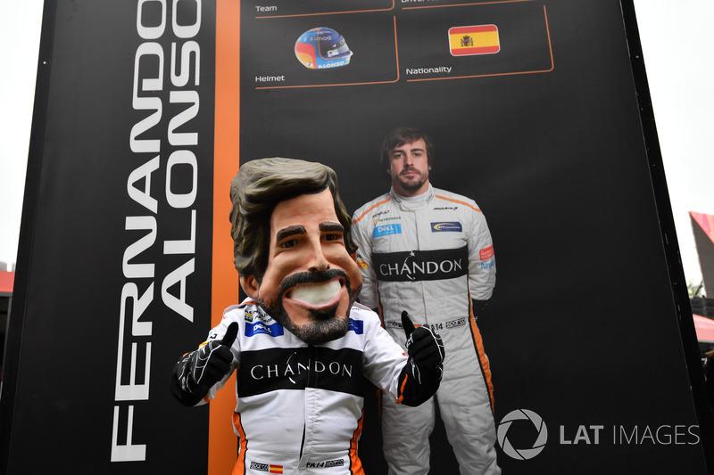 Fernando Alonso, McLaren caricatura
