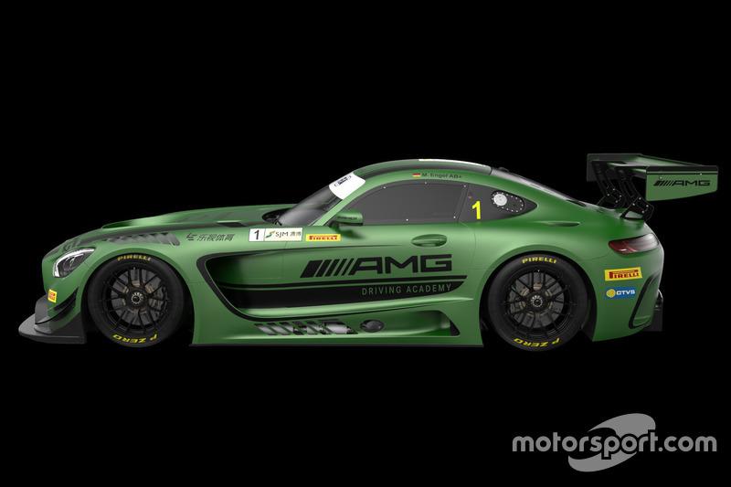 De Mercedes-AMG van Maro Engel, Mercedes-AMG Driving Academy, voor Macau