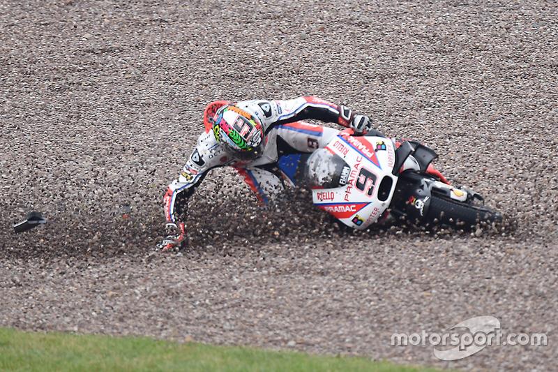 Unfall: Danilo Petrucci, Pramac Racing