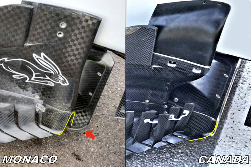 Piso y bargerboardo del Haas F1 Team VF-18
