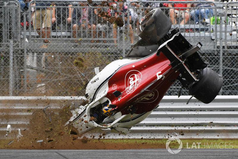 Kecelakaan Marcus Ericsson, Sauber C37