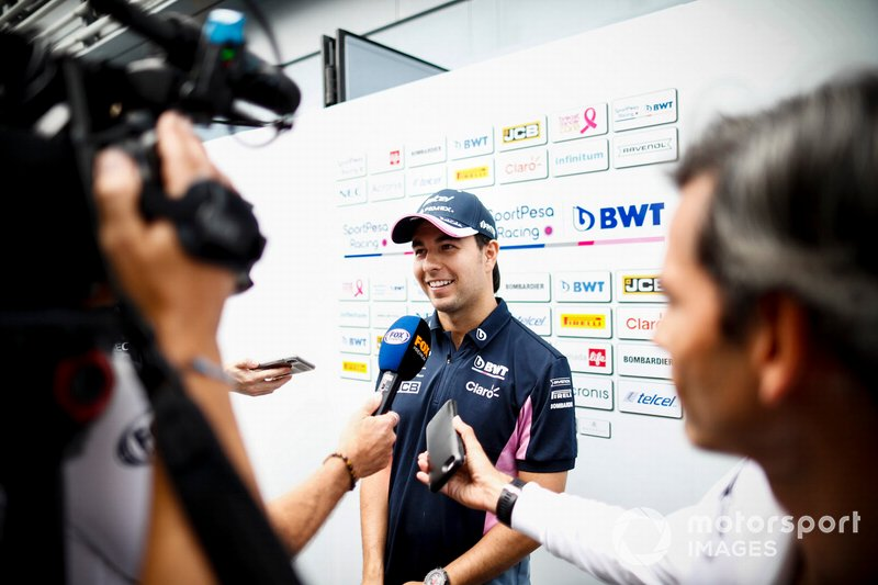 Sergio Perez, Racing Point con los medios