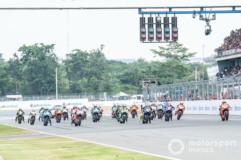 Marc Marquez, Repsol Honda Team, alla partenza