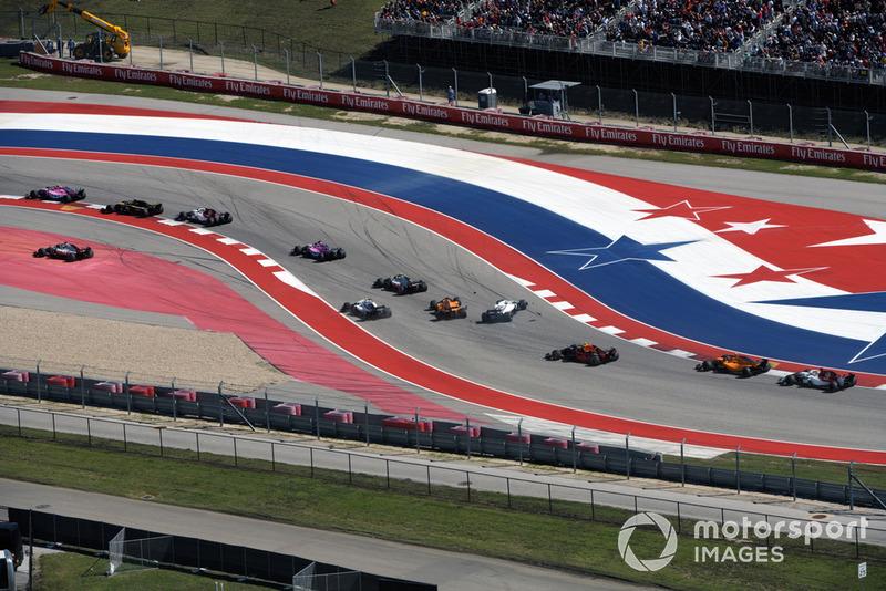 GP Amerika Serikat - Fernando Alonso/Lance Stroll (balapan)