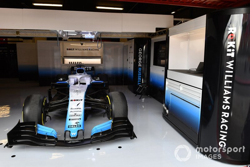 Williams in the garage
