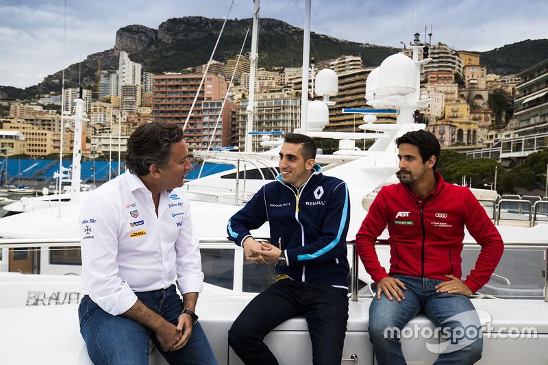 Alejandro Agag, Formula E CEO, CEO, Formula E Holdings. with Sébastien Buemi, Renault e.Dams, Lucas