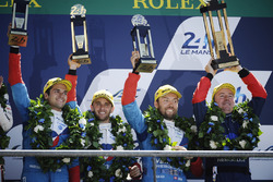 Overall podium: third place #13 Vaillante Rebellion Racing Oreca 07 Gibson: Mathias Beche, David Heinemeier Hansson, Nelson Piquet Jr.