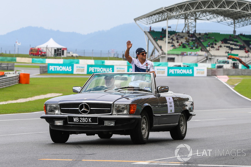 Felipe Massa, Williams on the drivers parade