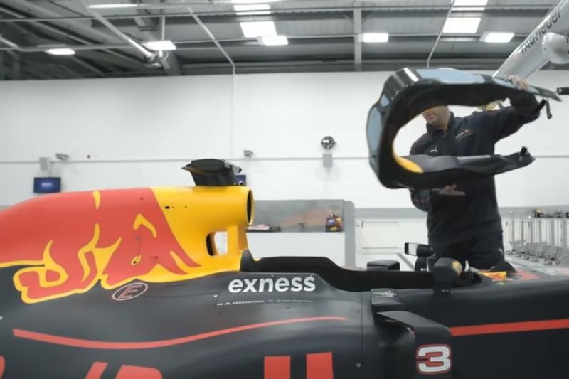 Fabricación del RB13 de Red Bull