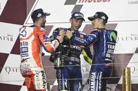 Podium: 1. Maverick Viñales, Yamaha Factory Racing; 2. Andrea Dovizioso, Ducati Team; 3. Valentino Rossi, Yamaha Factory Racing