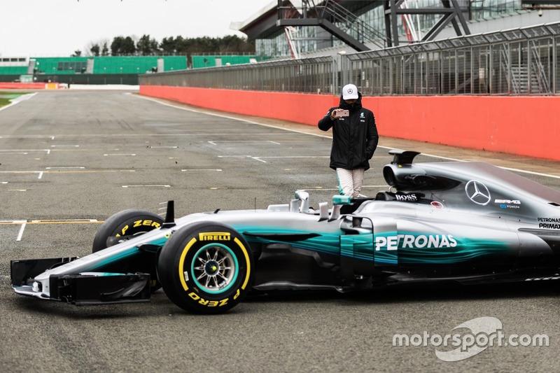 Lewis Hamilton mit dem Mercedes AMG F1 W08 Hybrid