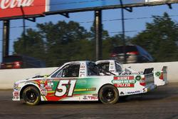 Harrison Burton, Kyle Busch Motorsports Toyota, JJ Yeley, Fr8Auctions.com Chevrolet Silverado and Justin Haley, GMS Racing Chevrolet