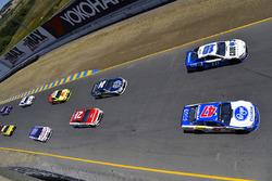 A.J. Allmendinger, JTG Daugherty Racing Chevrolet, Danica Patrick, Stewart-Haas Racing Ford