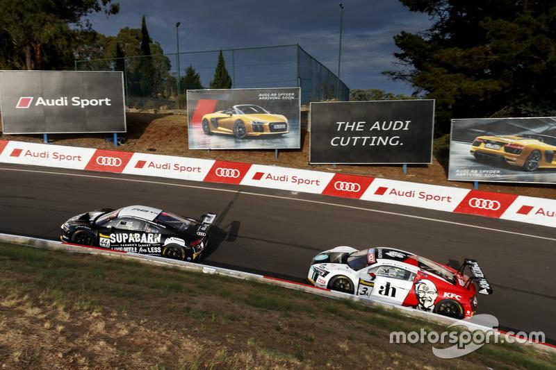 #44 Supabarn, Audi R8 LMS: James Koundouris, Theo Koundouris, Markus Marshall, Simon Evans; #3 Team ASR Pty Ltd, Audi R8 LMS: Ash Samadi, Daniel Gaunt, Matt Halliday