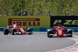 Sebastian Vettel, Ferrari SF70-H and Kimi Raikkonen, Ferrari SF70-H
