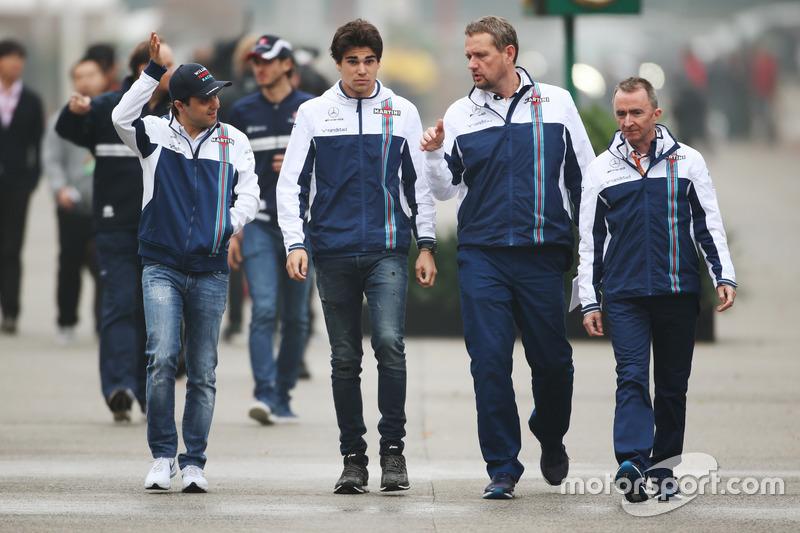 Felipe Massa, Williams, Lance Stroll, Williams, y Paddy Lowe, Williams Formula 1