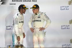 Podium: second place Lewis Hamilton, Mercedes AMG F1, third place Valtteri Bottas, Mercedes AMG F1