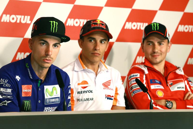 Maverick Viñales, Yamaha Factory Racing, Marc Márquez, Repsol Honda Team, Jorge Lorenzo, Ducati Team