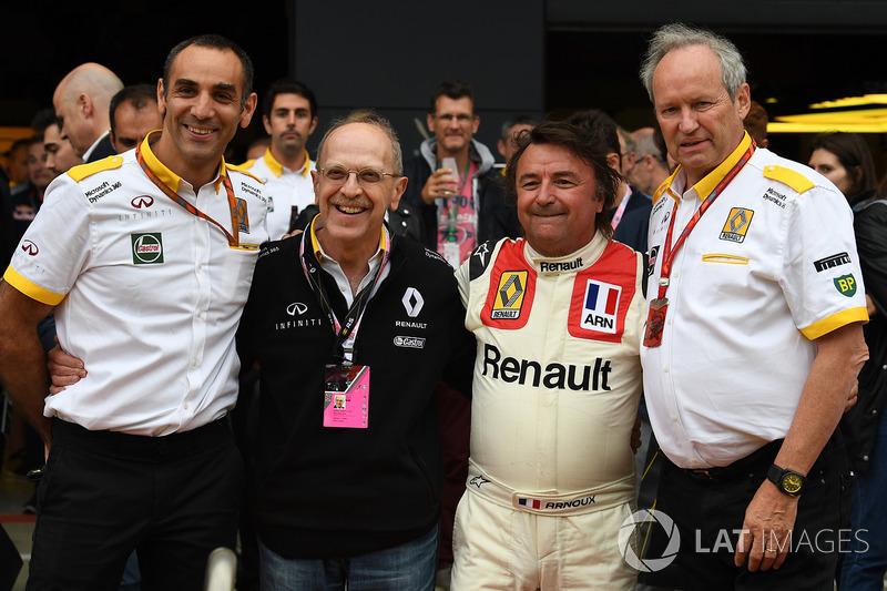 Cyril Abiteboul, Renault, René Arnoux, Alex Mea, Jerome Stoll