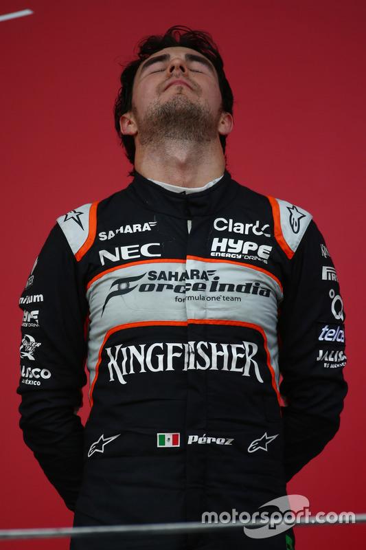 Podio: Tercer lugar Sergio Pérez, Force India F1 VJM09