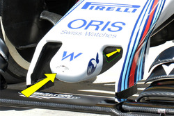 Detalle de la nariz de FW38 Williams