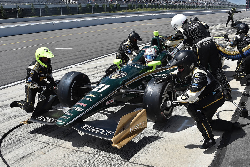 Josef Newgarden, Ed Carpenter Racing Chevrolet, pit stop