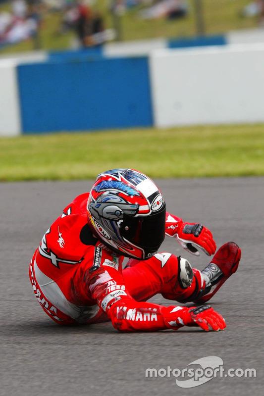 Sturz: Max Biaggi, Yamaha Team