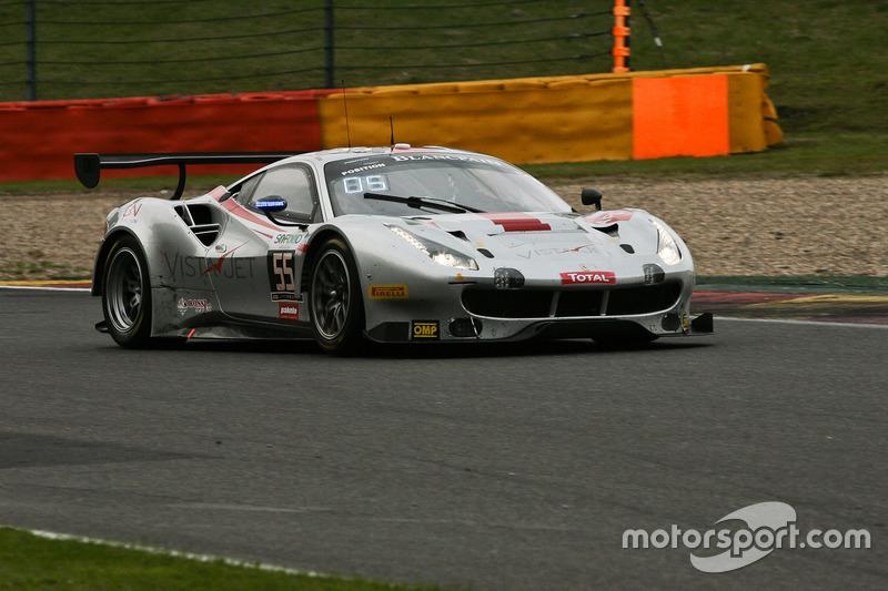 #55 AT Racing, Ferrari 488 GT3: Pierguiseppe Perazzini, Thomas Flohr, Marco Cioci, Francesco Castellacci