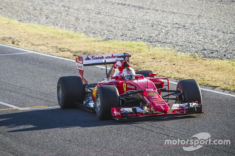 Sebastian Vettel, Ferrari SF15-T testing 2017-spec Pirelli tyres