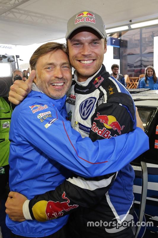 Andreas Mikkelsen, Volkswagen Polo WRC, Volkswagen Motorsport mit Jost Capito, Volkswagen Motorsport Direktor