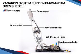Zanardis System für den BMW M4 DTM, Bremshebel