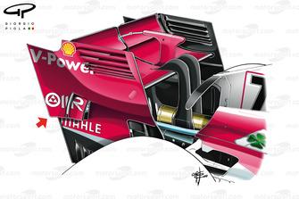 Aileron arrière de la Ferrari SF71H, GP de Singapour