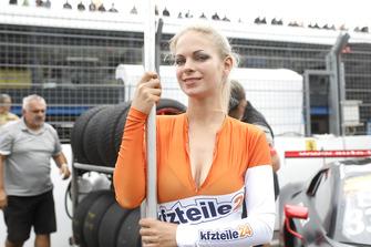 Grid girl of #33 Team ISR Audi R8 LMS: Filip Salaquarda, Frank Stippler