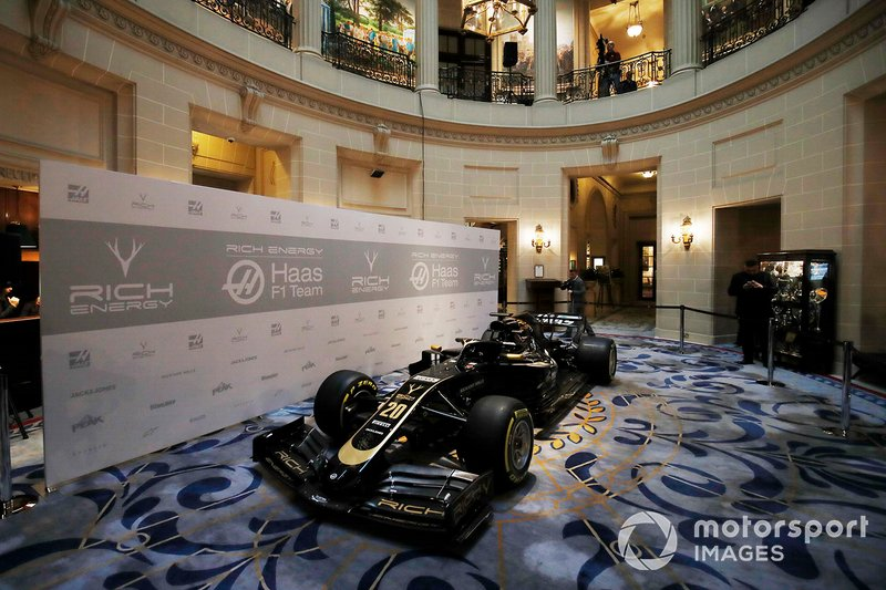 Haas F1 Team VF-18 with 2019 new livery