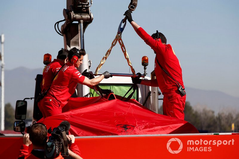 Машина Себастьяна Феттеля, Ferrari SF90 після аварії