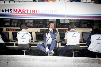 Rob Smedley, Head of Vehicle Performance, Williams Martini Racing, on the pit wall