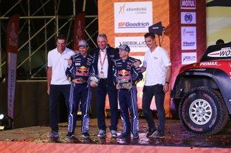 Podium : X-Raid Mini JCW Team: Cyril Despres, Jean-Paul Cottret