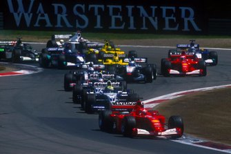 Michael Schumacher, Ferrari F1-2001, led from the start