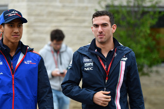 Sean Gelael, Scuderia Toro Rosso and Nicholas Latifi, Racing Point Force India F1