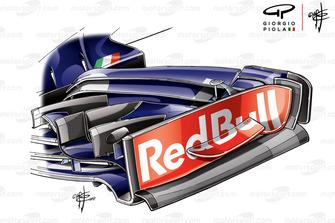 Dérive de l'aileron avant de la Toro Rosso STR13, GP des États-Unis