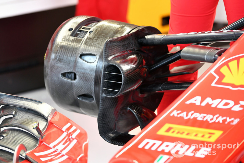 Ferrari SF-71H front wheel hub and brake duct