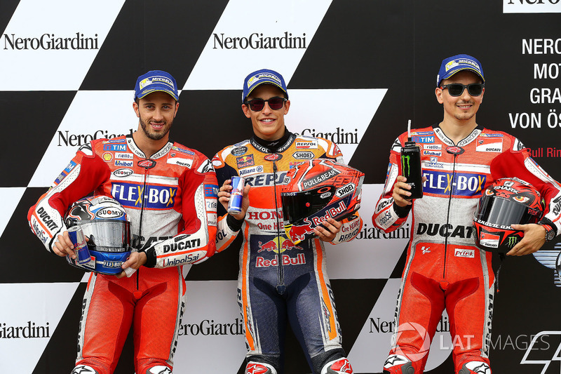 Le top 3 des qualifications : Marc Marquez, Andrea Dovizioso, Jorge Lorenzo