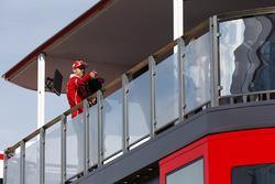 Sebastian Vettel, Ferrari, en el hospitality de Ferrari
