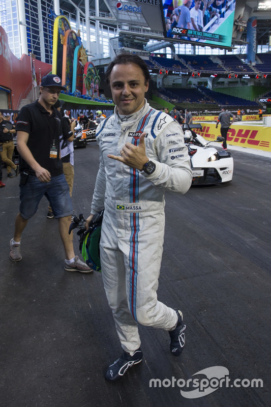Felipe Massa, in de pits