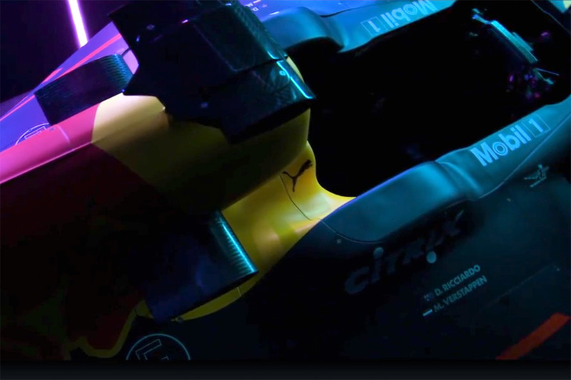 Red Bull Racing RB13, detalle de cabina