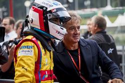 Le vainqueur Giuliano Alesi, Trident avec son père Jean Alesi