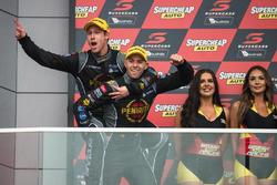 Podium: race winners David Reynolds, Luke Youlden, Erebus Motorsport Holden