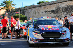 The car of Sébastien Ogier, Julien Ingrassia, M-Sport, Ford Fiesta WR